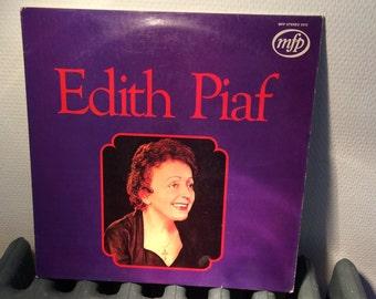 Vintage - 1970s - Edith Piaf Vinyl 33 RPM