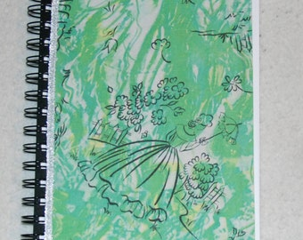 Covered sketch book