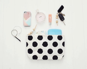 Black Spotty Clutch