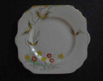 1930s Art Deco High tea, wedding cake plate / George Proctor & Co ltd, Longton England / Gladstone Pottery / Bone China tableware
