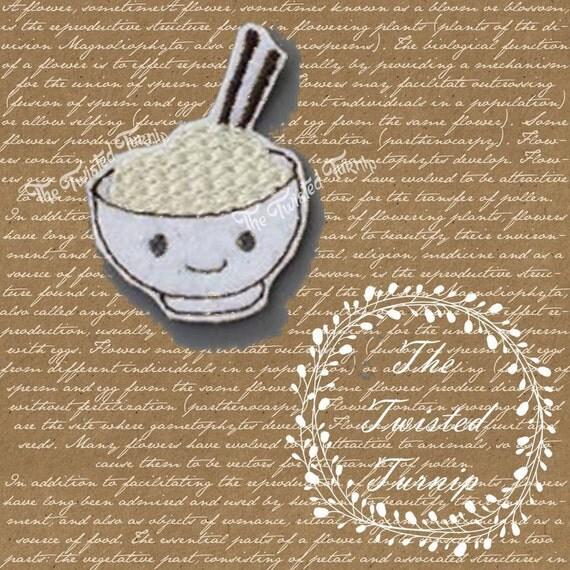 5x7 Hoop Adorable Bowl Of Noodles Roman Ramen Food Foodie Kawaii Embroidery Design Feltie Felt Instant Download
