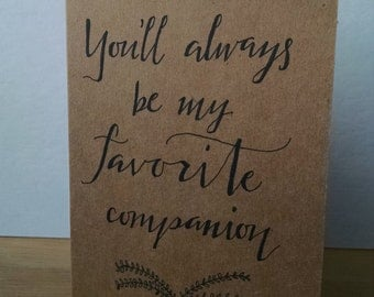 Favorite Companion greeting card