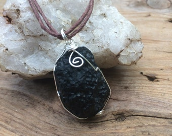 Black Tektite Necklace