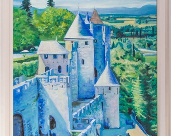 The Ramparts of Carcassonne (oils, 2016)