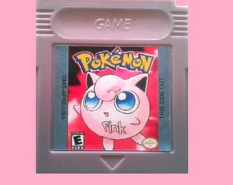 Pokemon Pink Version Nintendo Game Boy (GBC GBA) -(English Fan Translation) Gameboy