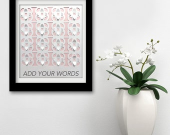 Personalized Flower Wall Art / Flower 3D Wall Art/ Flower 3d Design/ Flower  Cut Part 94