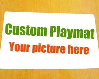 Create your Own custom playmat card mat for Yugioh Pokemon Magic the Gathering