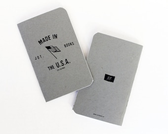 JOT. Books -- Made In U.S.A. Pocket Notebook -- Series 3, (pack of 3)
