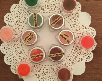 Natural lip balm, lip gloss, handmade lip balm, lip color, moisturizer for lips, gift for teen, gift for friend, flavored lip gloss