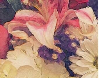 Flowers, Blank Notecard