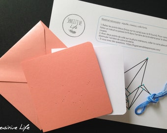 Kit map to embroider crane origami - DIY - color choices