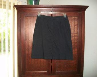 Vintage Tommy HilfigerBlack Cotton Skirt Size 6