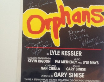 Original signed theatre poster from the show Orphans