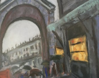 Original Painting Framed Shop in Italy
