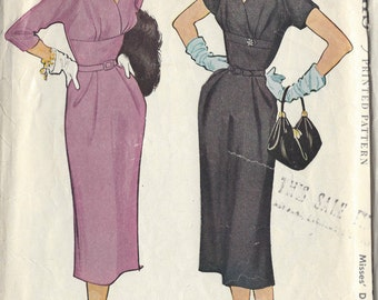 "1953 Vintage Sewing Pattern B34"" DRESS (R57) McCall's 9610"