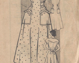"1940s Vintage Sewing Pattern DRESS B34"" (R150) The Farmer Stockman pattern Dept 4674"