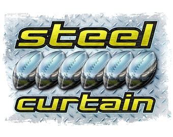 Steel Curtain Steelers T-shirt, tank or sleeveless white M L XL 2X 3X 4X 5X Women Ladies Men NEW