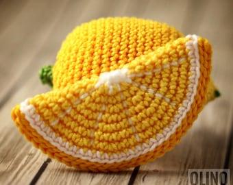 LEMON and Lemon SLICE Crochet Pattern PDF - Crochet lemon pattern Amigurumi lemon and lemon slice Crochet fruits patterns Play Food Lemon