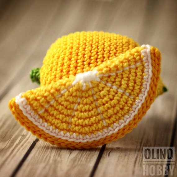 Amigurumi Lemon : LEMON and Lemon SLICE Crochet Pattern PDF Crochet lemon