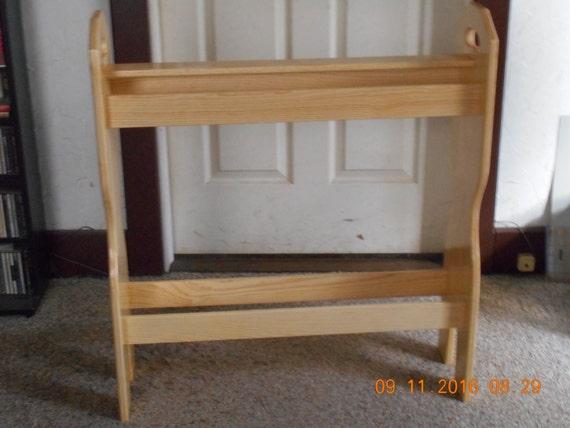 Handmade pine quilt rack