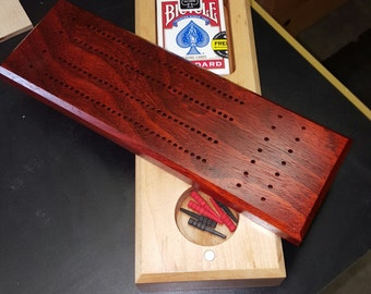 Hand made cribbage board