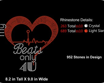 My Heart Beats Only 4 U  Rhinestone Tee