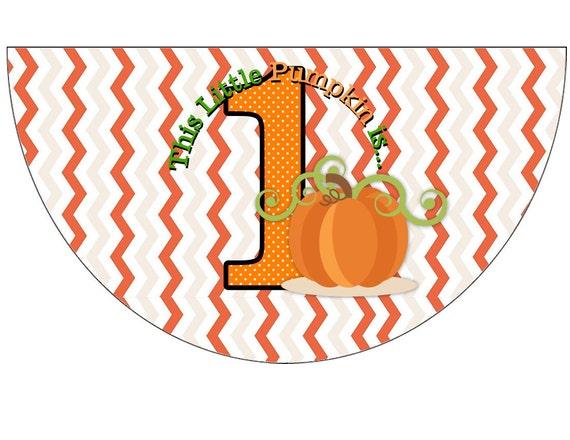 Halloween Little Pumpkin Birthday Party Hats
