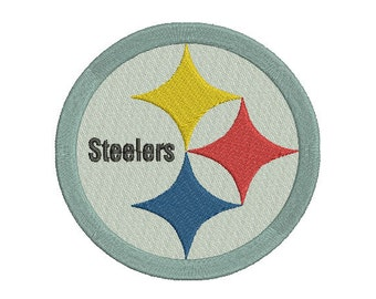 4 sizes Pittsburgh Steelers Embroidery Design, Football Team Logo Machine Embroidery Design, Instant Download Pattern