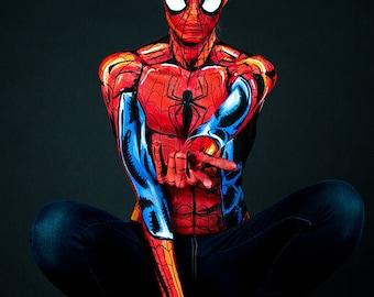 Spider-Man Bodypaint 8.5x11 Print