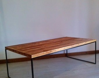 Table of wood and iron.