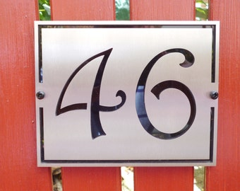 Decorative House Number Plaque