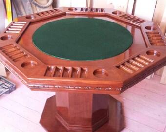 Oak Poker Table (make an offer)