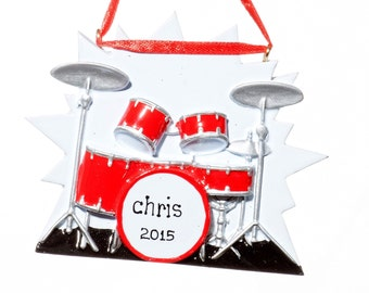 Personalized Ornament- Drums Musical Instrument-Free Gift Bag Included