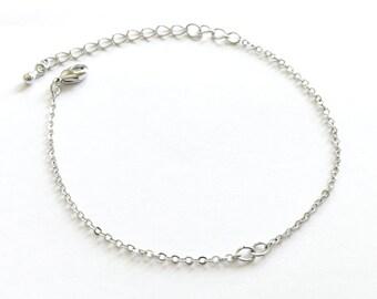10 Silver Bracelet Chain  BR-S