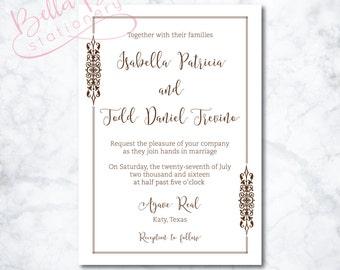 Isabella Wedding Invitation Design