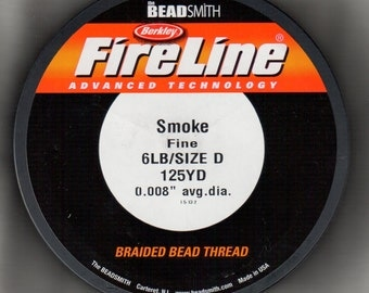 6lb FireLine 125 yards, Smoke beading thread