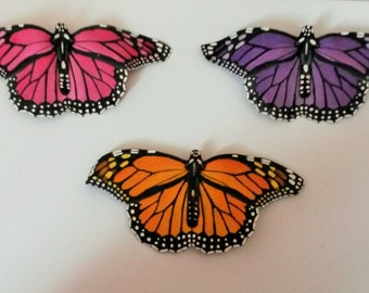 Handmade Monarch Butterfly Hair-clip
