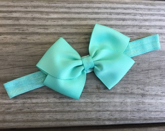 Aqua Headband / Baby Headband / Toddler Headband