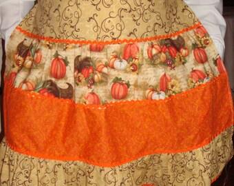 Cute half apron for Autumn with bonus