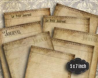 Art Journal Pages / Vintage Paper Background / Postcard pack / collage sheets / vintage ephemera / digital scrapbook paper /petit journal AC