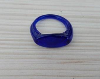 novel ring cobalt blue / cobalt blue Roman ring