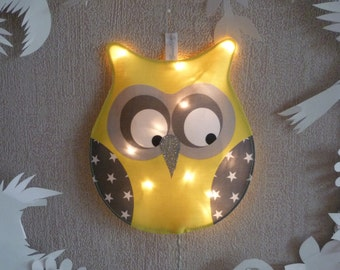 Little night light yellow OWL
