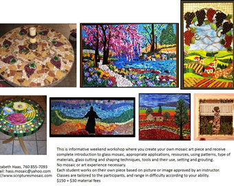 Weekend Mosaic Classes Available in Carlsbad, CA
