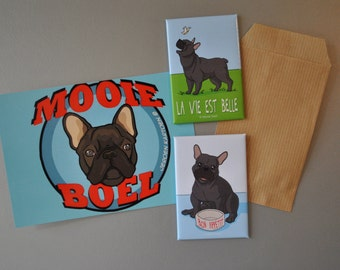 French Bulldog magnets (2 pieces)