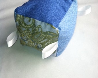 Blue and Paisley Soft Block