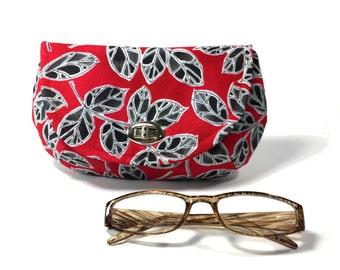 Women's Red clutch red and black clutch red clutch purse with zipper pocket nickel twist lock closure evening clutch black clutch bag