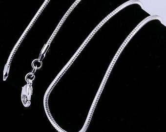 925 sterling silver 1mm snake chain necklace