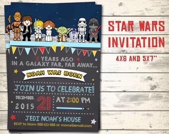 Star Wars kids invitation, Star Wars invitation, Star Wars birthday invitation, Star Wars kids birthday invitation! Personalized invite!