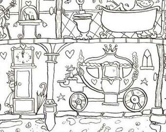 Princess Palace Colouring Poster