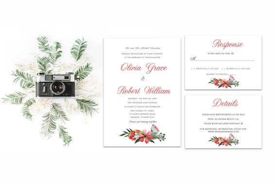 Floral wedding invite word_37,INSTANT DOWNLOAD, Editable Wedding template invitation. Microsoft Word template.Wedding Printable